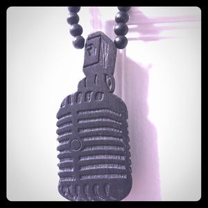 Microphone pendant and necklace